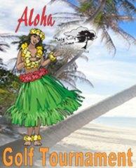 Aloha Golf Tournament flier for Colma Chamber of Commerce